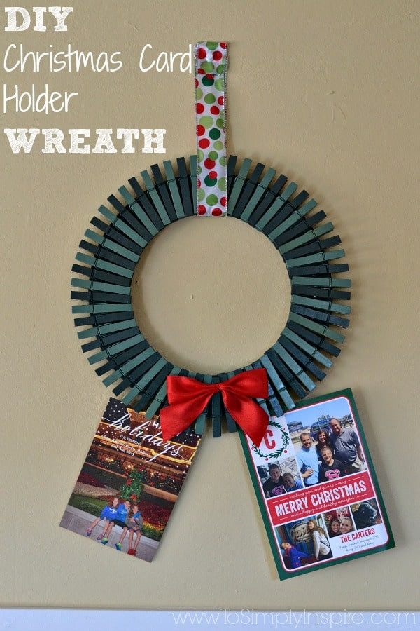 Best ideas about DIY Photo Christmas Cards . Save or Pin DIY Christmas Card Holder Wreath Now.