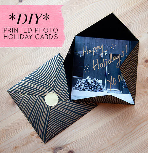 Best ideas about DIY Photo Christmas Cards . Save or Pin DIY Project Printed Picture Holiday Cards – Design Sponge Now.