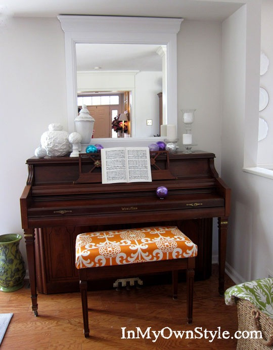 Best ideas about DIY Piano Bench . Save or Pin How to Make a No Sew Fabric Covered Cushion In My Own Style Now.