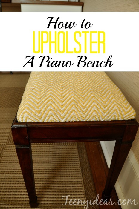 Best ideas about DIY Piano Bench . Save or Pin How to Upholster a Piano Bench Now.
