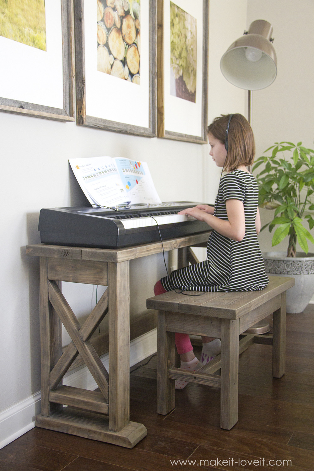 Best ideas about DIY Piano Bench . Save or Pin DIY Digital Piano Stand plus Bench a $25 project Now.