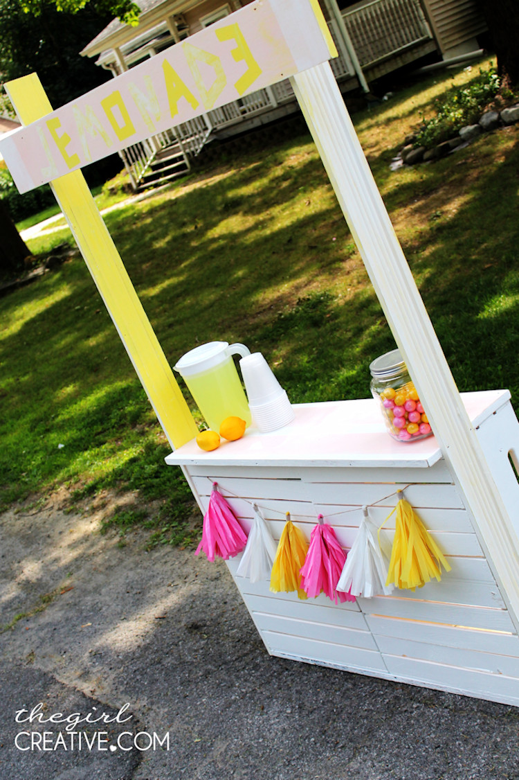 Best ideas about DIY Picture Stand . Save or Pin DIY Lemonade Stand The Girl Creative Now.