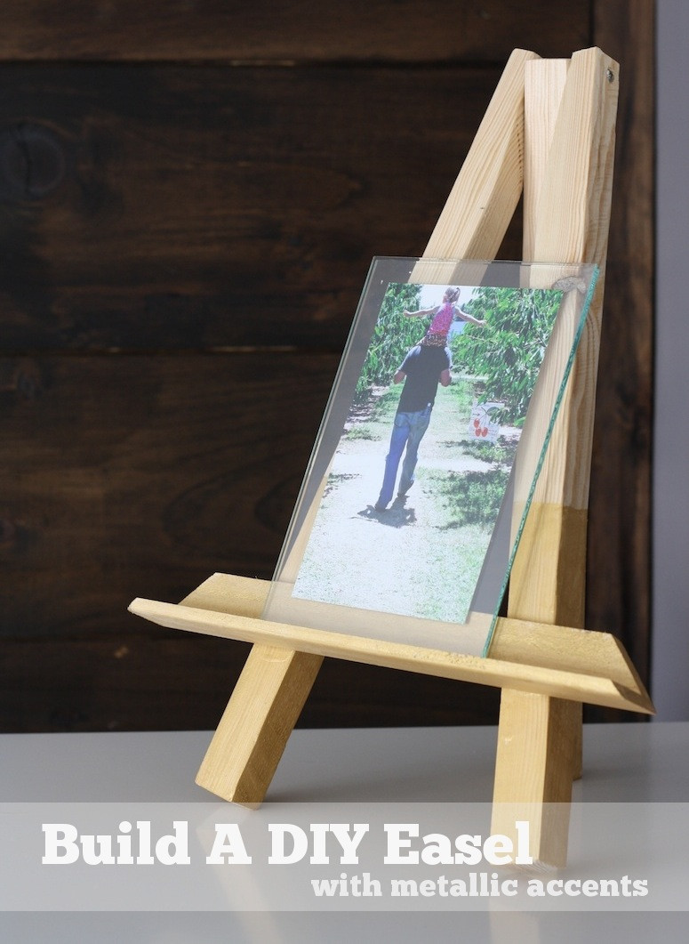 Best ideas about DIY Picture Stand . Save or Pin DIY Easel Picture Frame Now.