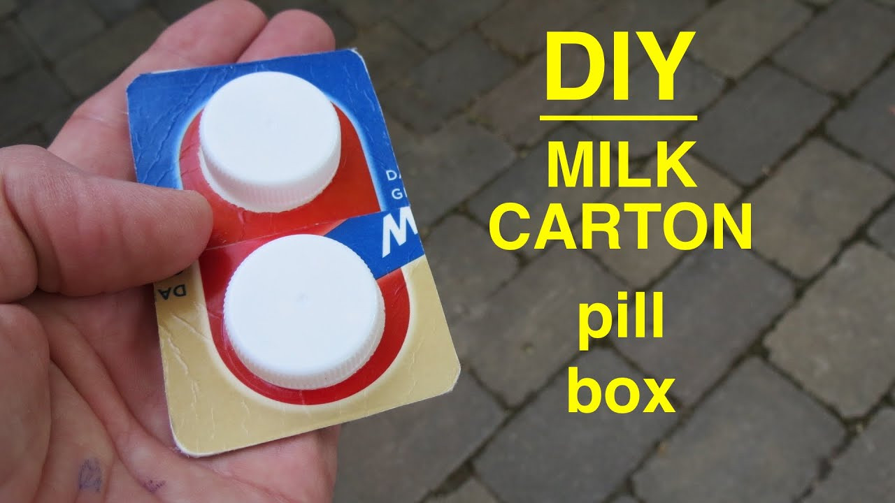 Best ideas about DIY Pill Box . Save or Pin How to Diy Pocket Pill Box from milk cartons actually Now.