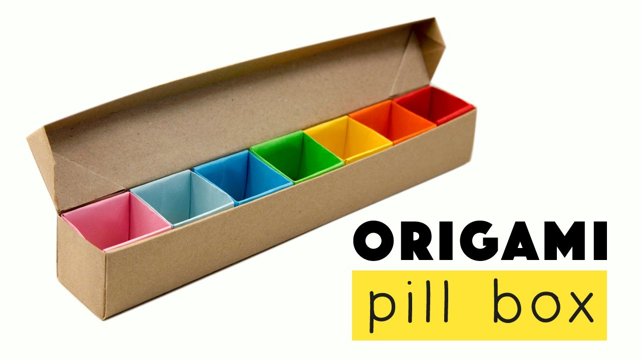 Best ideas about DIY Pill Box . Save or Pin Origami Pill Box Organizer Tutorial ♥︎ DIY ♥︎ Now.