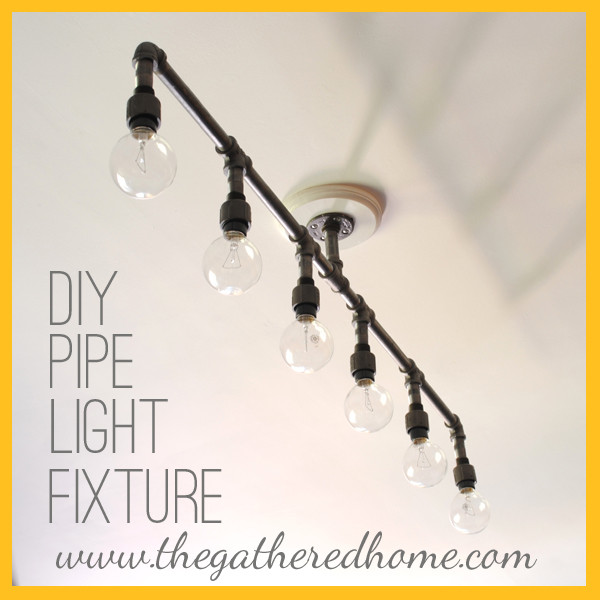 Best ideas about DIY Pipe Light Fixture . Save or Pin 28 Brilliant DIY Lighting Ideas YOU CAN TOTALLY DO Now.