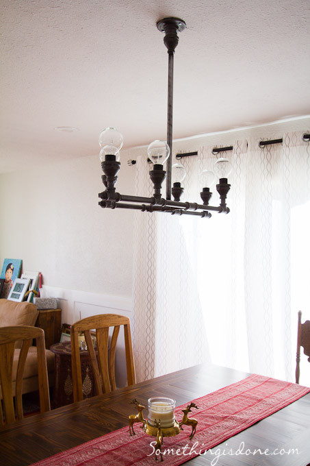 Best ideas about DIY Pipe Light Fixture . Save or Pin DIY Steel Pipe Chandelier Now.