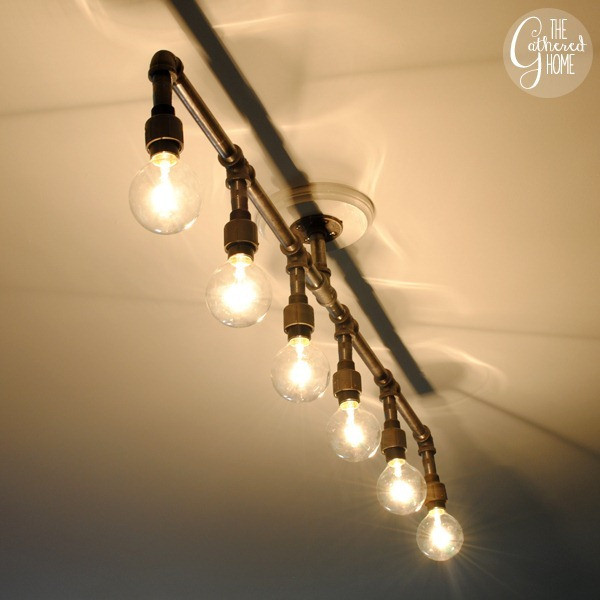 Best ideas about DIY Pipe Light Fixture . Save or Pin Guys with Hammers How To Make A Fabulous Plumbing Pipe Now.