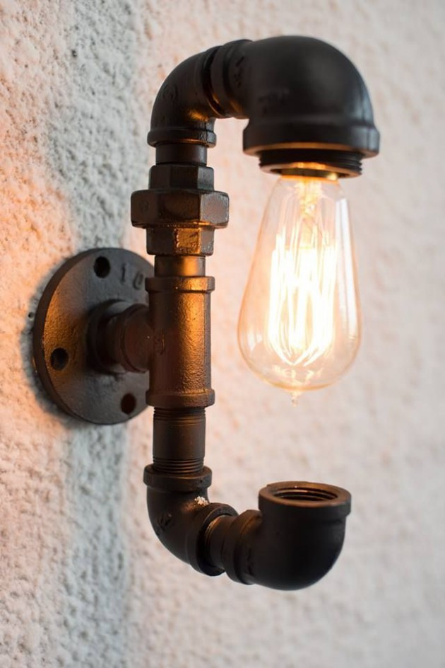 Best ideas about DIY Pipe Light Fixture . Save or Pin 20 Interesting Industrial Pipe Lamp Design Ideas Now.
