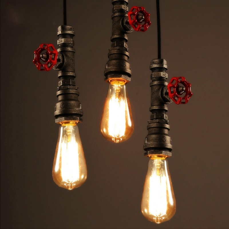 Best ideas about DIY Pipe Lights . Save or Pin Vintage Lamp Retro Suspension Luminaire Industrial DIY Now.