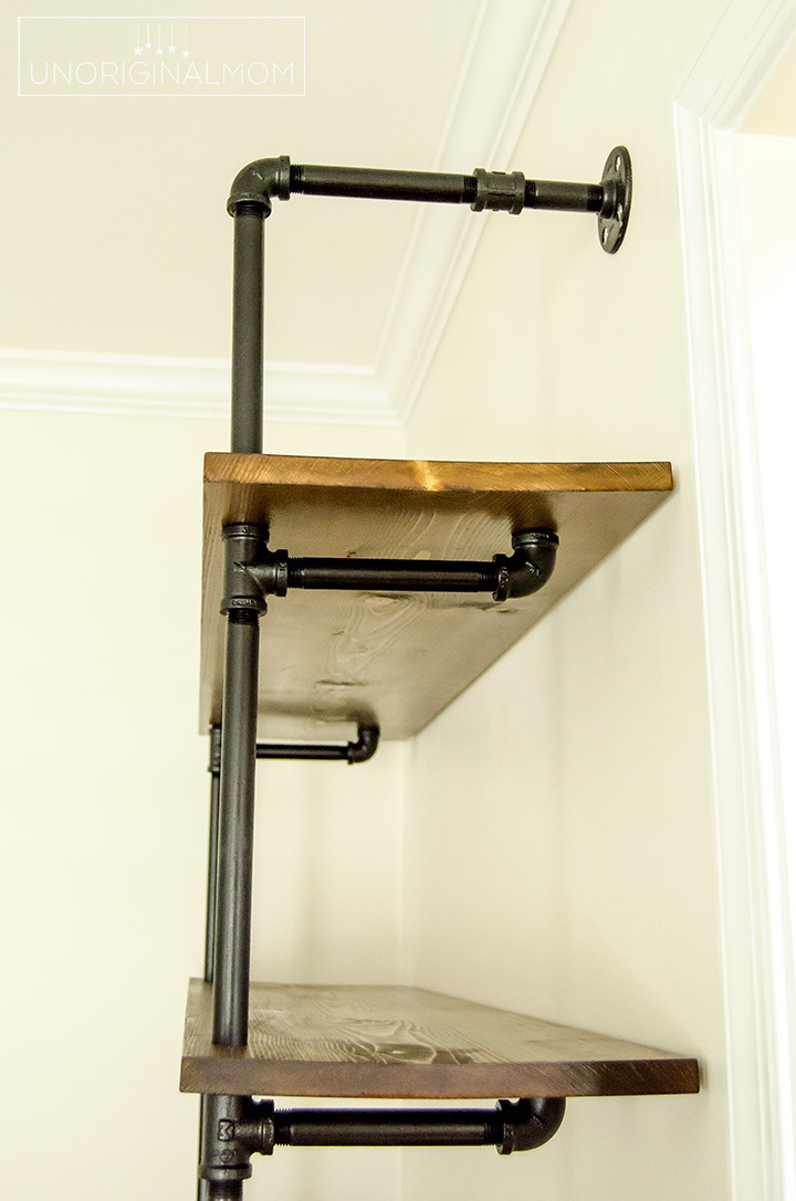 Best ideas about DIY Pipe Shelves . Save or Pin DIY Fixer Upper Pipe Shelving Tutorial unOriginal Mom Now.