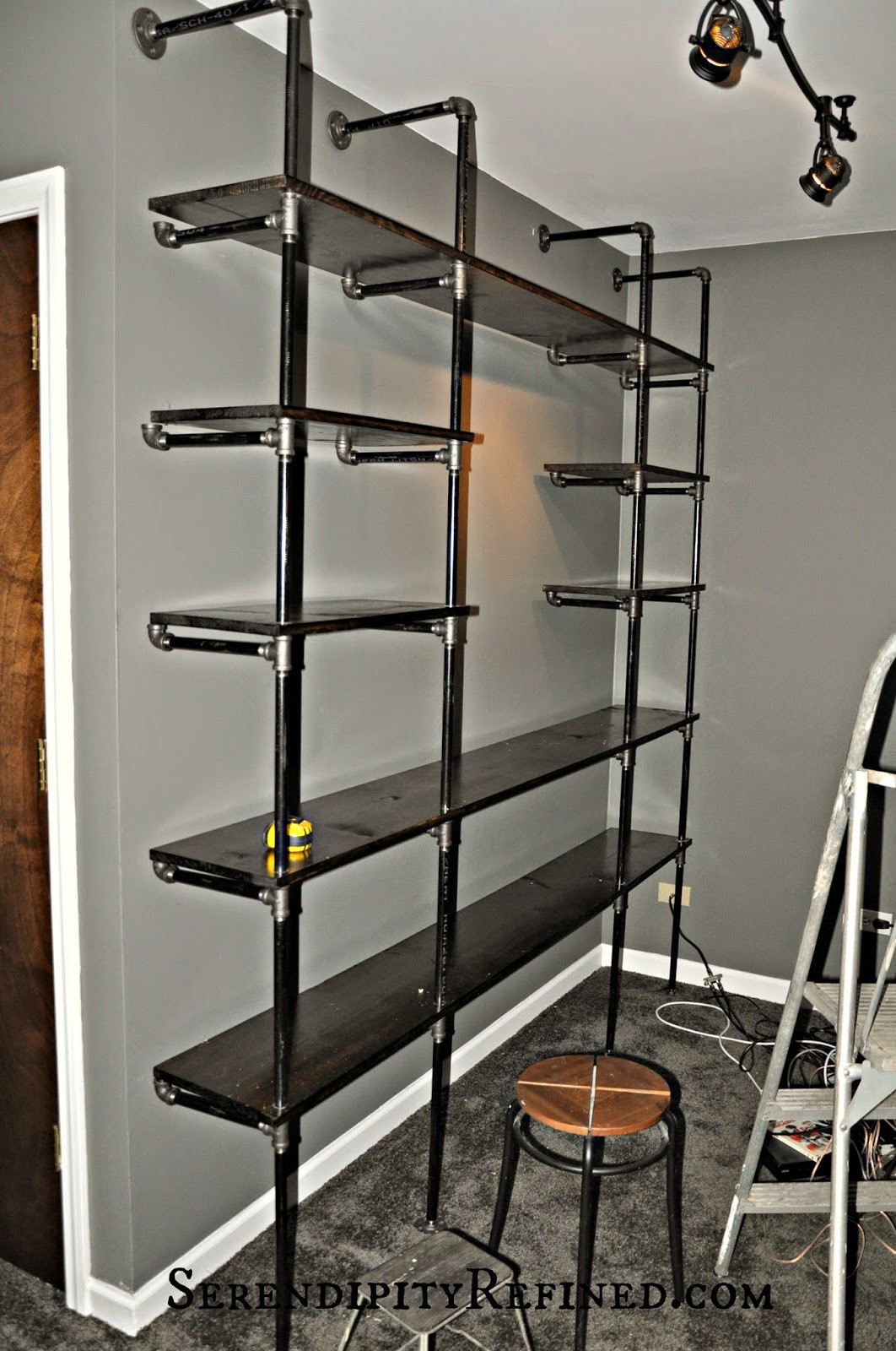 Best ideas about DIY Pipe Shelves . Save or Pin Serendipity Refined Blog DIY Industrial Pipe Shelves for Now.