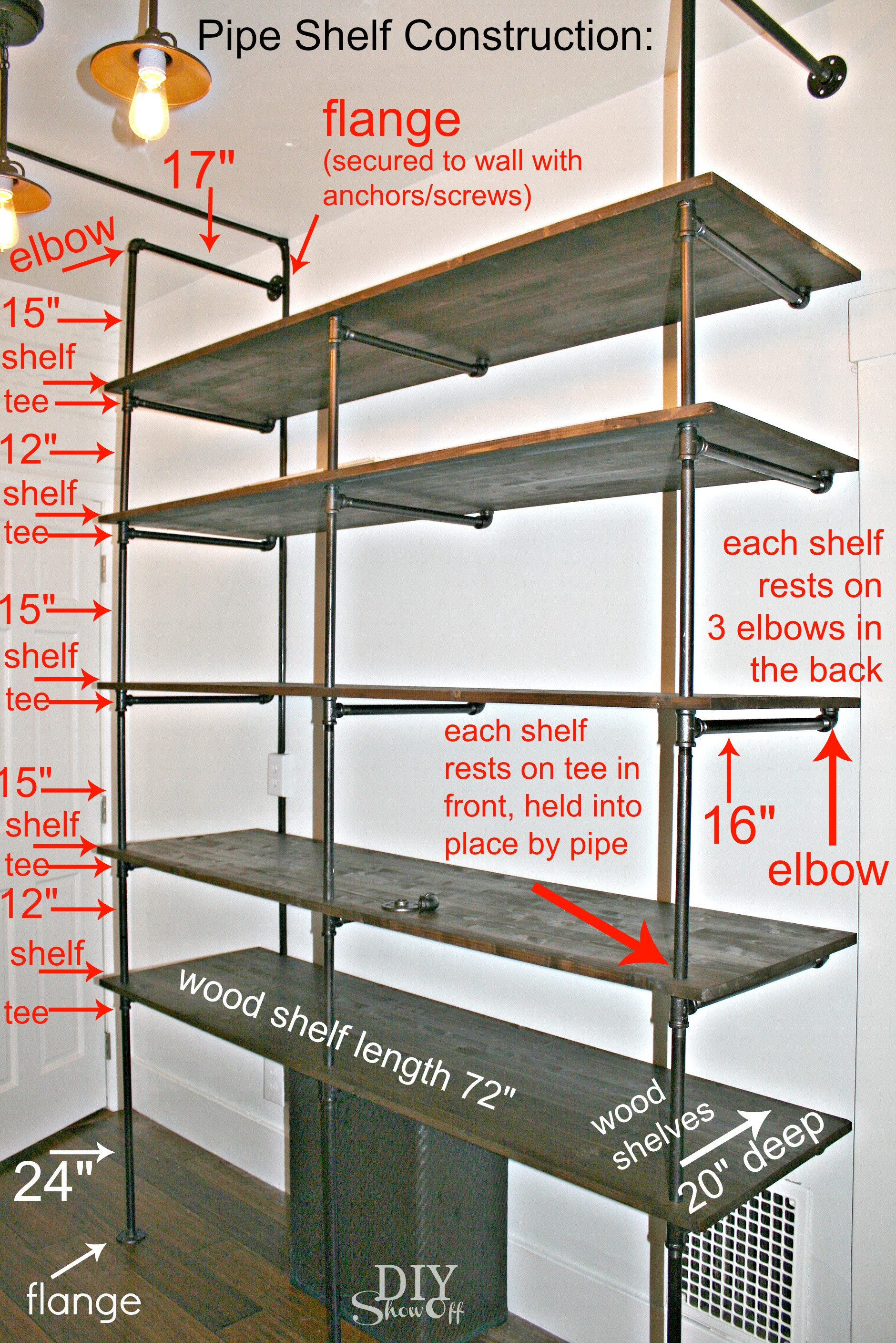 Best ideas about DIY Pipe Shelves . Save or Pin Tips for Making a DIY Industrial Pipe Shelving Unit Page Now.