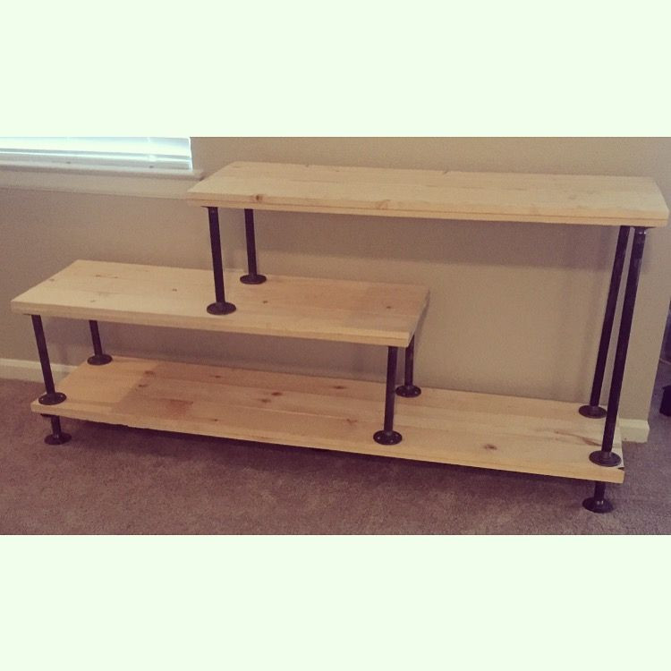 Best ideas about DIY Pipe Tv Stand . Save or Pin DIY Steel Pipe TV Stand diy Now.