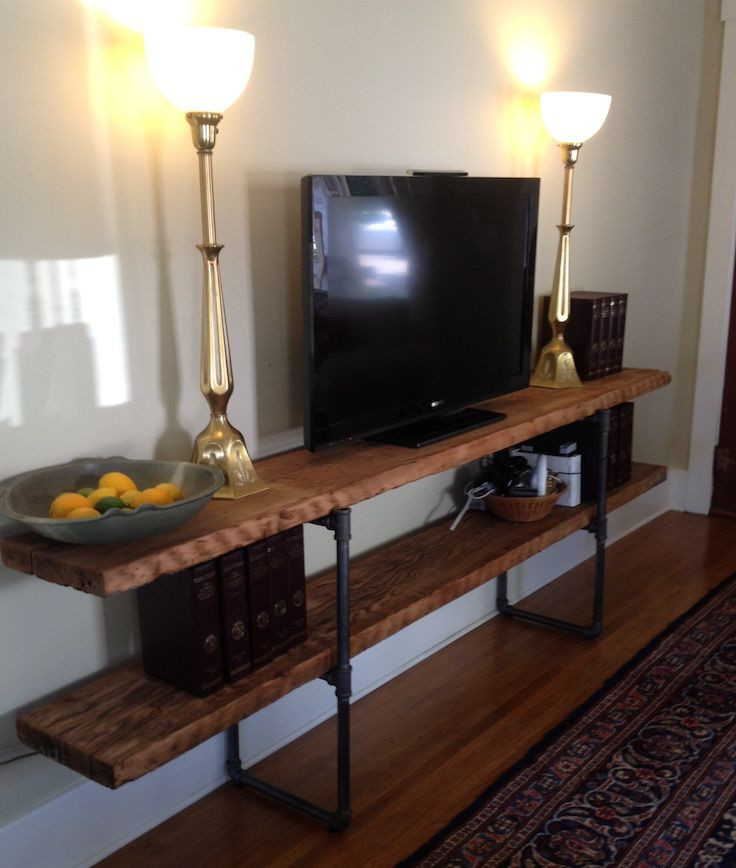 Best ideas about DIY Pipe Tv Stand . Save or Pin Steam Punk Shelves Homestyle Now.