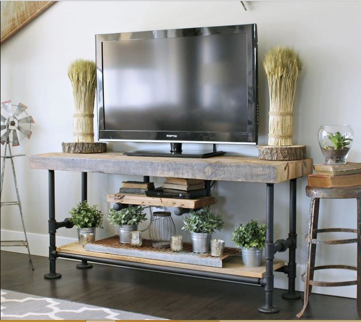 Best ideas about DIY Pipe Tv Stand . Save or Pin 33 DIY TV Stands You Can Build Easily In A Weekend – Home Now.
