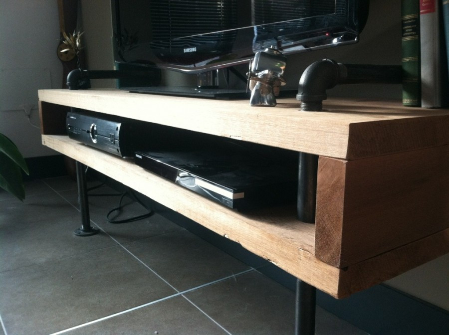 Best ideas about DIY Pipe Tv Stand . Save or Pin DIY Urban Minimalist TV Stand – meticulous mrs Now.