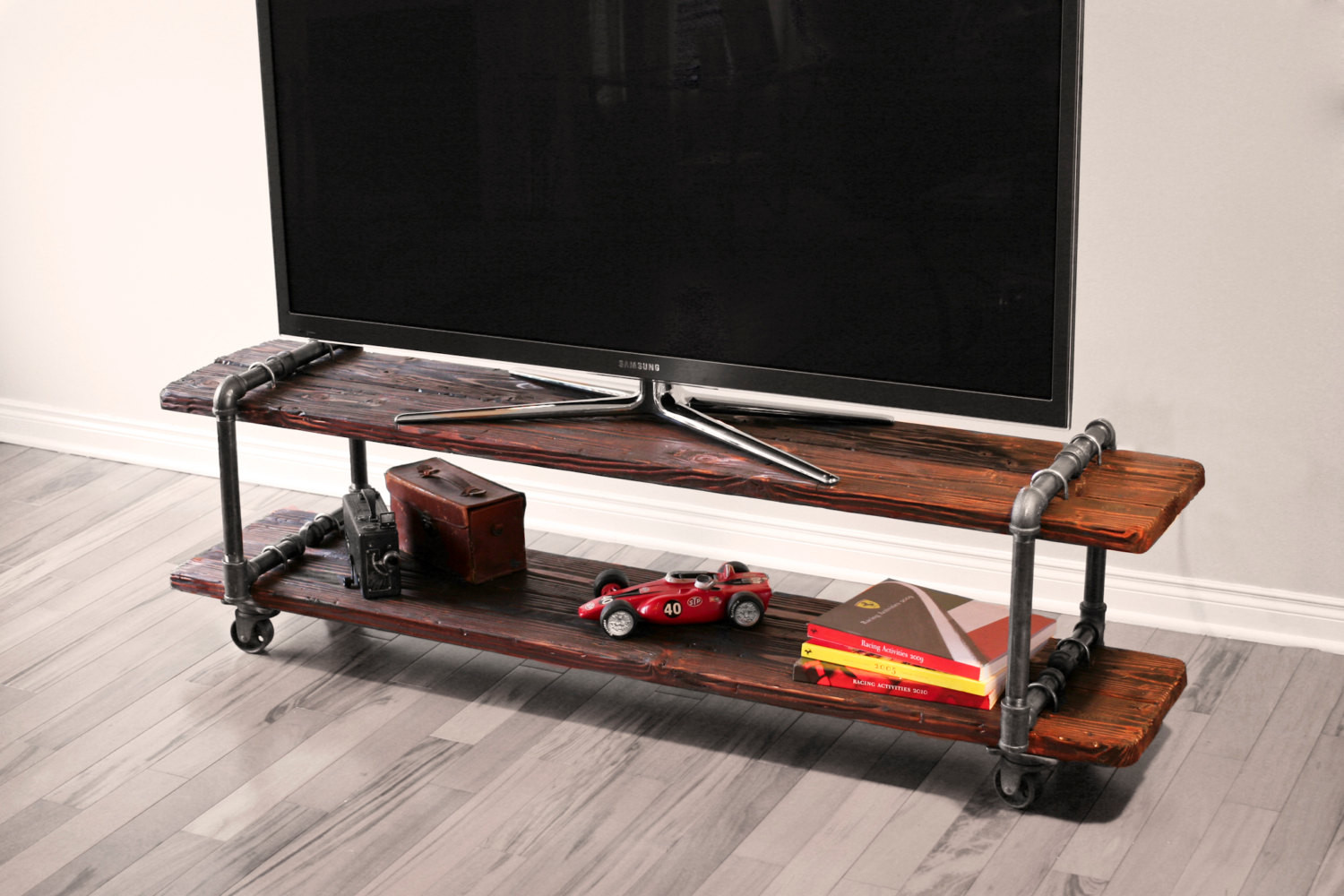 Best ideas about DIY Pipe Tv Stand . Save or Pin Vintage Industrial Cast Iron Pipe Table TV Stand Now.