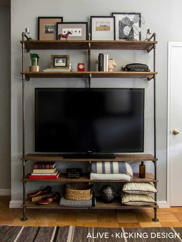 Best ideas about DIY Pipe Tv Stand . Save or Pin 50 Creative DIY TV Stand Ideas for Your Room Interior Now.