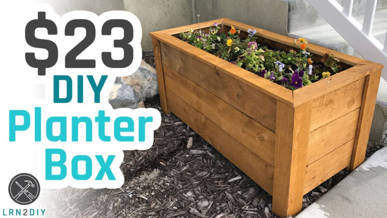 Best ideas about DIY Planter Box . Save or Pin $23 DIY Planter Box Now.