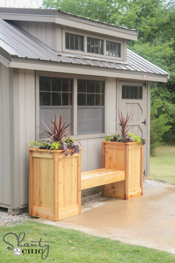Best ideas about DIY Planter Box . Save or Pin DIY Planter Box Bench Shanty 2 Chic Now.