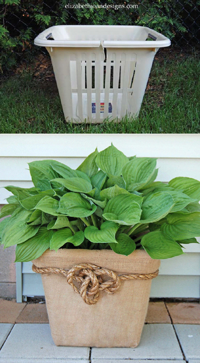 Best ideas about DIY Planter Ideas . Save or Pin Laundry Basket Planter DIY Outdoors Now.