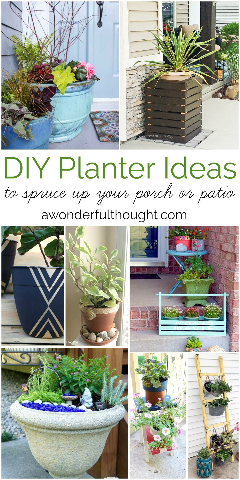 Best ideas about DIY Planter Ideas . Save or Pin DIY Planter Ideas to Spruce Up Your Porch or Patio A Now.