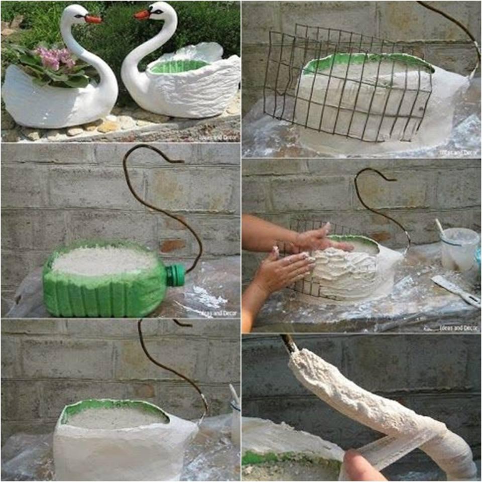 Best ideas about DIY Planter Ideas . Save or Pin DIY Swan Planter Idea Now.