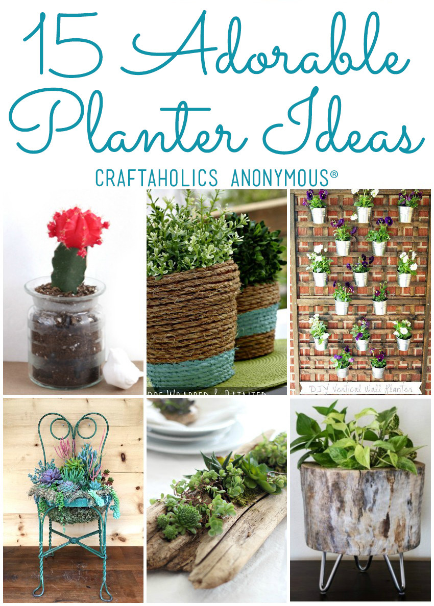 Best ideas about DIY Planter Ideas . Save or Pin 15 DIY Planter Ideas for your Spring Garden DIY Planters Now.