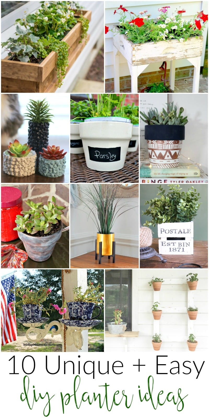 Best ideas about DIY Planter Ideas . Save or Pin DIY Planter Ideas for the Home MM 151 Now.