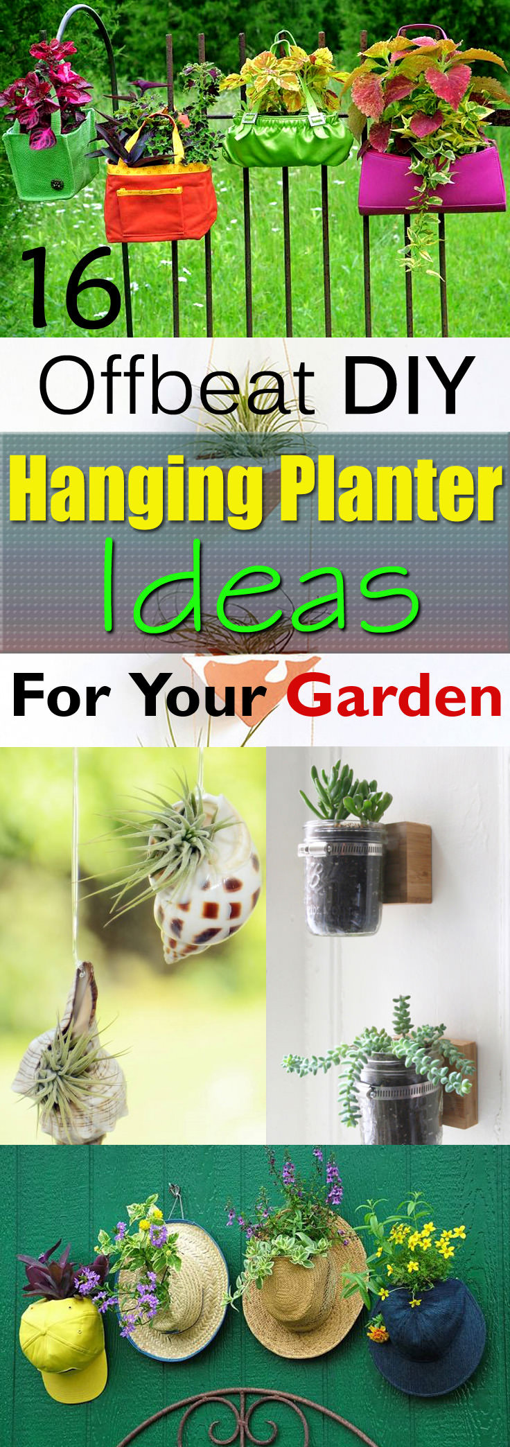 Best ideas about DIY Planter Ideas . Save or Pin 16 fbeat DIY Hanging Planter Ideas Now.