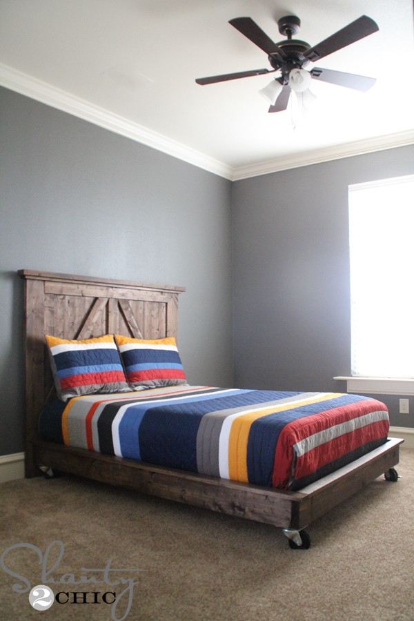 Best ideas about DIY Platform Bed . Save or Pin DIY Planked Headboard Shanty 2 Chic Now.