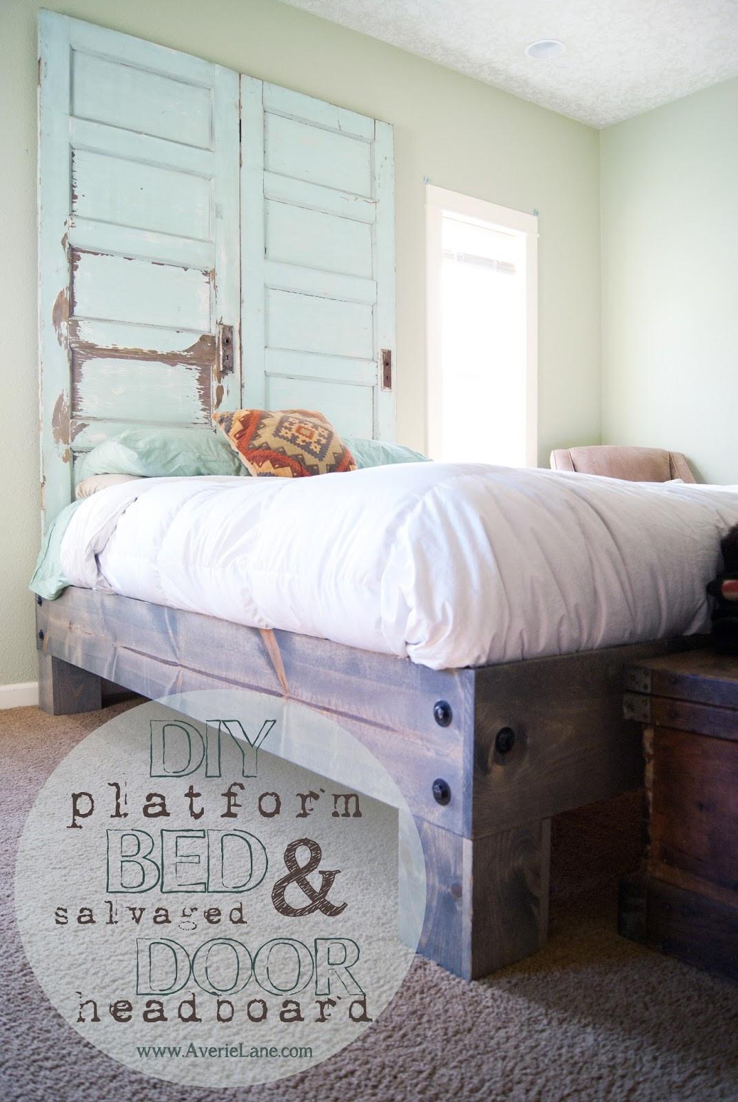 Best ideas about DIY Platform Bed . Save or Pin DIY Platform Bed & Salvaged Door Headboard part one Now.