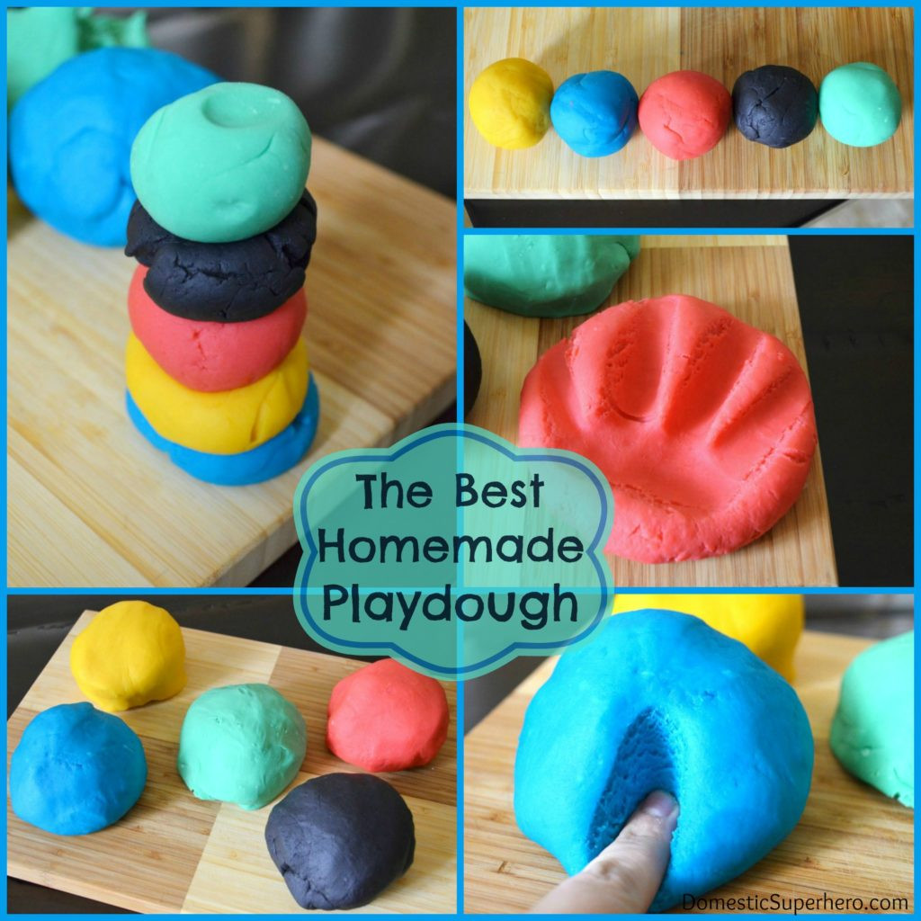 Best ideas about DIY Play Doh . Save or Pin The Best Homemade Playdough Recipe Domestic Superhero Now.