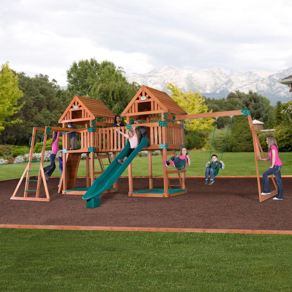 Best ideas about DIY Playset Kit . Save or Pin Wooden Swing Set Kit Outdoor Playset Kings Pk Backyard Now.