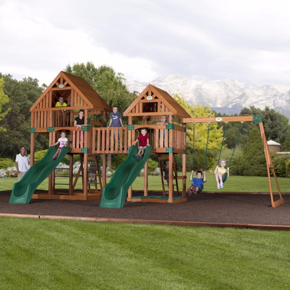 Best ideas about DIY Playset Kit . Save or Pin Wooden Swing Set Kit Outdoor Playset Vista Backyard Now.