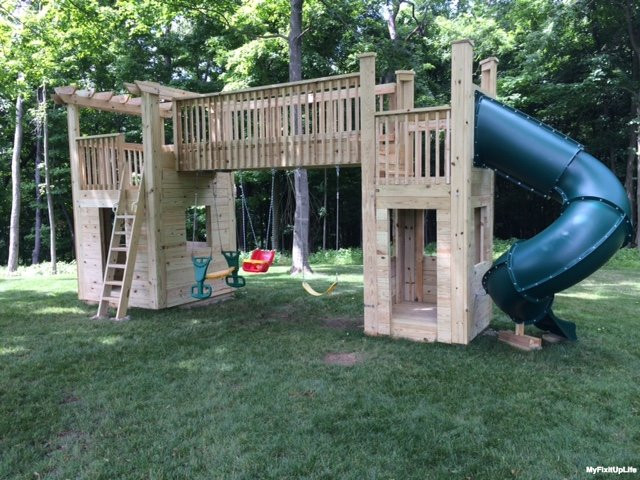 Best ideas about DIY Playset Kit . Save or Pin Your DIY Trevor from Heath Ohio built a backyard playset Now.