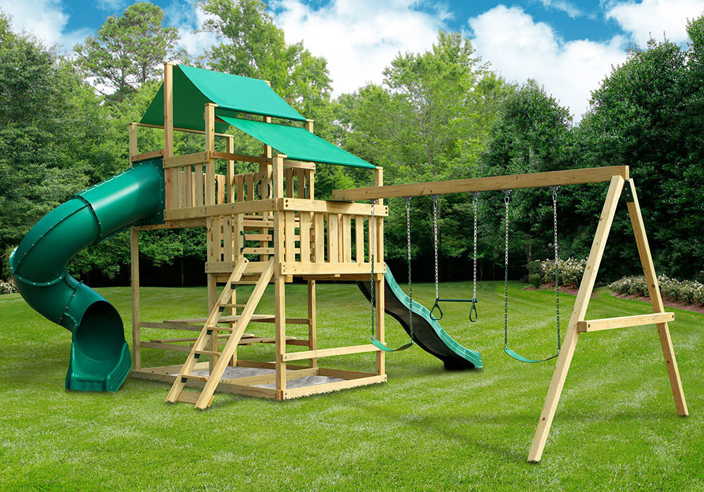 Best ideas about DIY Playset Kit . Save or Pin Frontier Fort with Swing Set DIY Kit SwingSetMall Now.