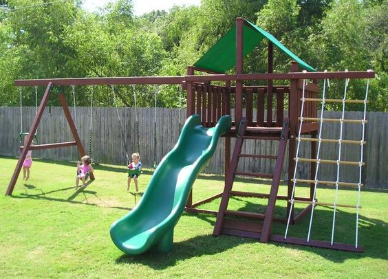 Best ideas about DIY Playset Kit . Save or Pin diy swing set Now.