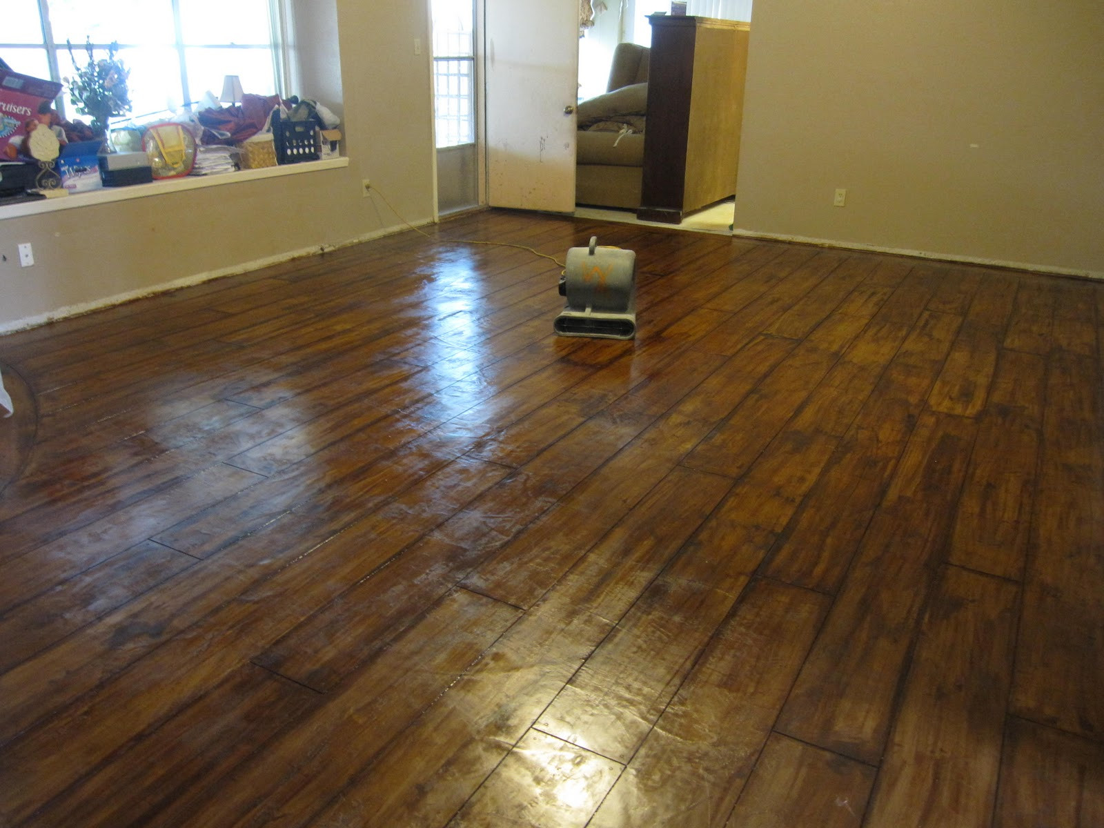 Best ideas about DIY Polished Concrete Floors . Save or Pin Painted Cement Floors Do It Yourself Now.
