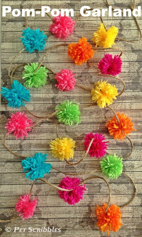 Best ideas about DIY Pom Pom Garland . Save or Pin DIY Pom Pom Garland Deja Vue Designs Now.