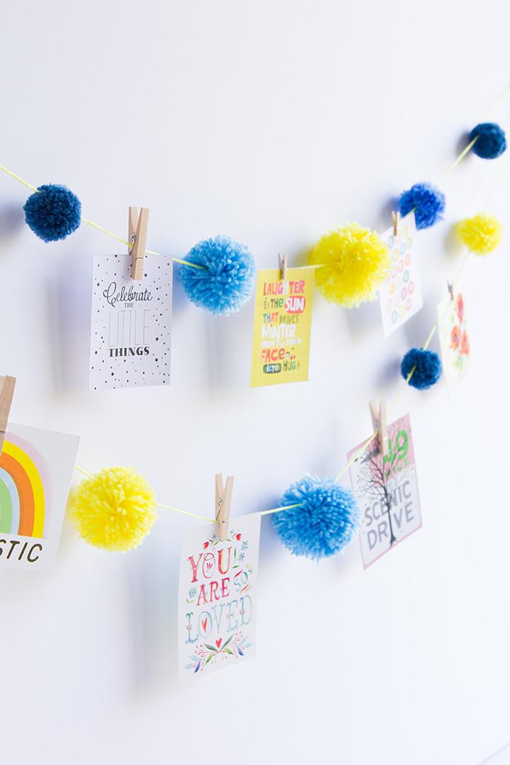 Best ideas about DIY Pom Pom Garland . Save or Pin Alice and LoisDIY Pom Pom Garland Alice and Lois Now.