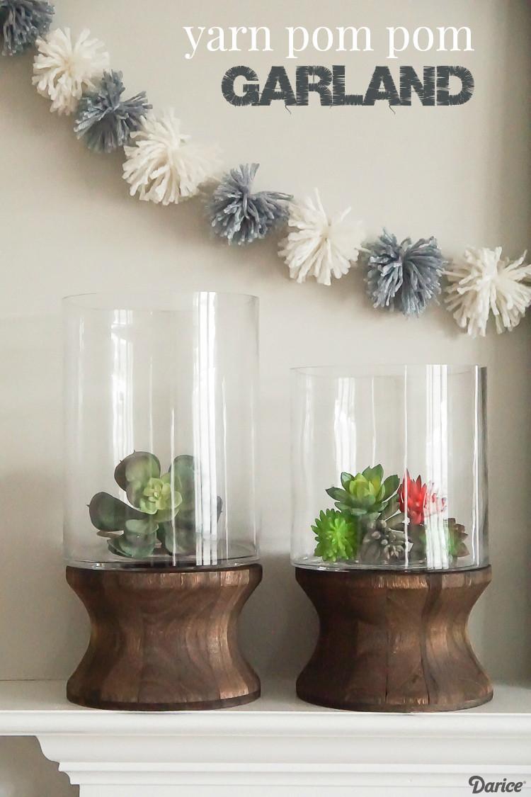Best ideas about DIY Pom Pom Garland . Save or Pin DIY Pom Pom Garland Winter Craft Tutorial Darice Now.