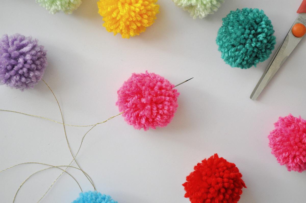 Best ideas about DIY Pom Pom Garland . Save or Pin Festive Bud Friendly Pom Pom Garland DIY Arty s Now.