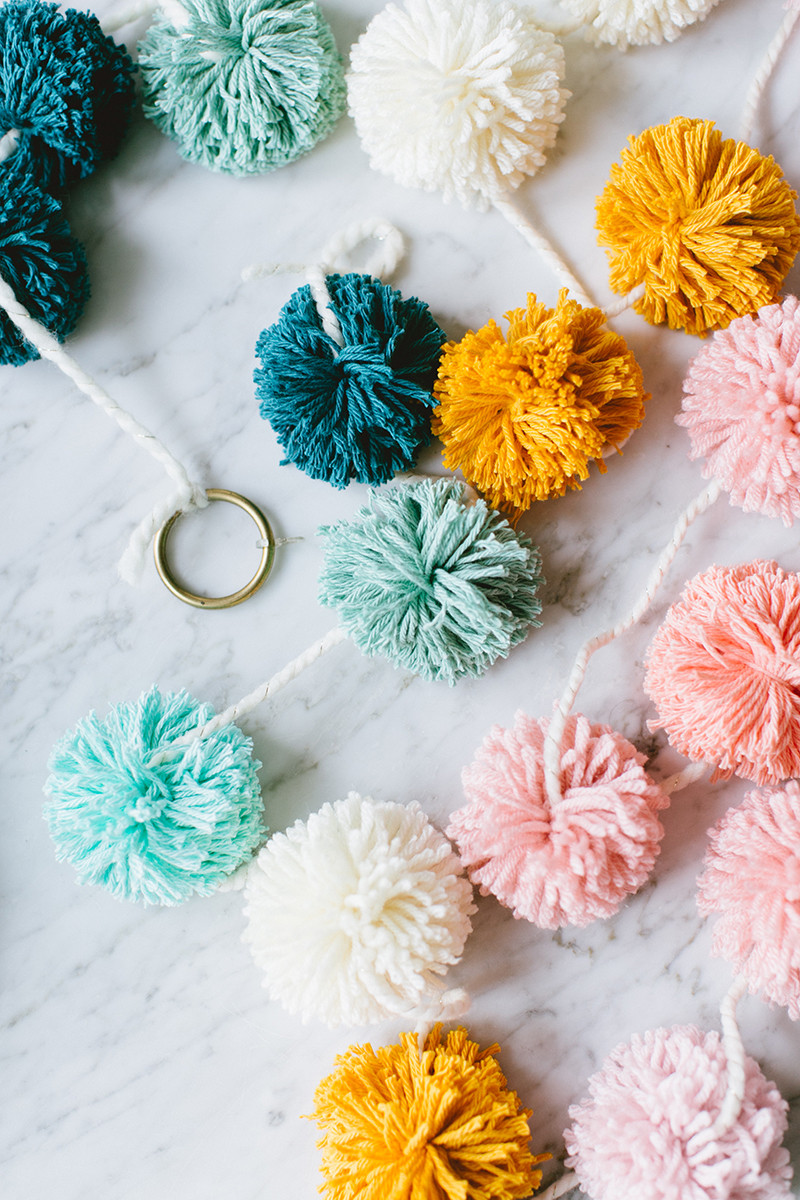 Best ideas about DIY Pom Pom Garland . Save or Pin festive pom pom garland DIY Now.