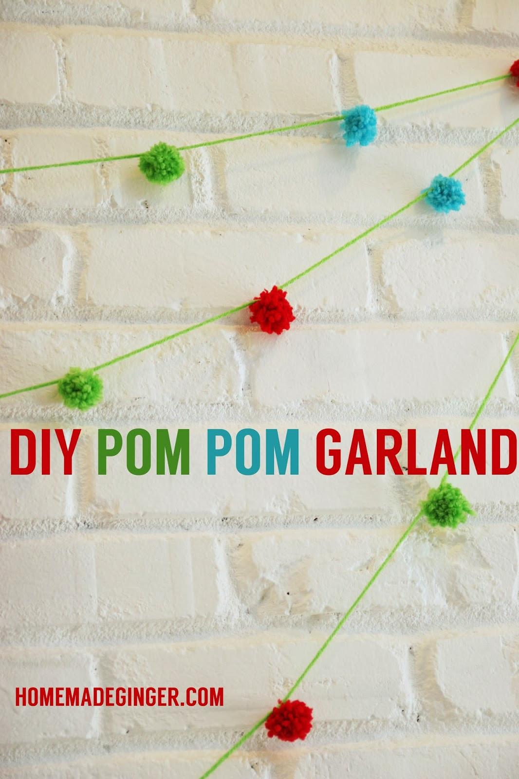 Best ideas about DIY Pom Pom Garland . Save or Pin TUTORIAL DIY Pom Pom Garland Homemade Ginger Now.