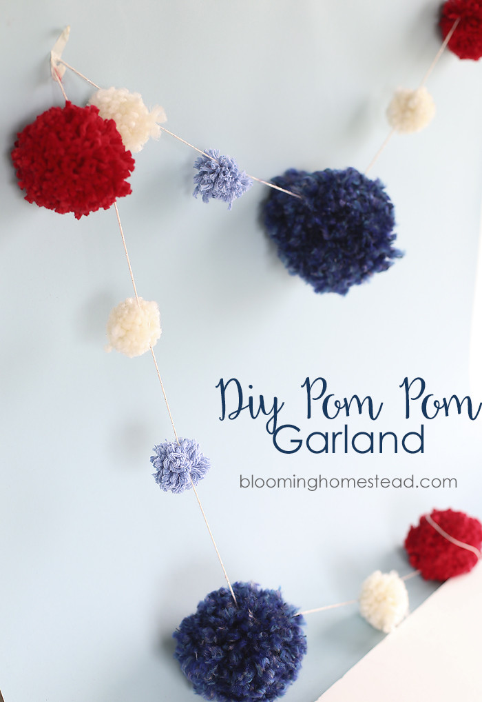 Best ideas about DIY Pom Pom Garland . Save or Pin DIY Pom Pom Garland Blooming Homestead Now.