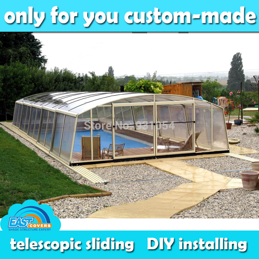 Best ideas about DIY Pool Enclosure . Save or Pin Custom made DIY installing telescopic swimming pool Now.