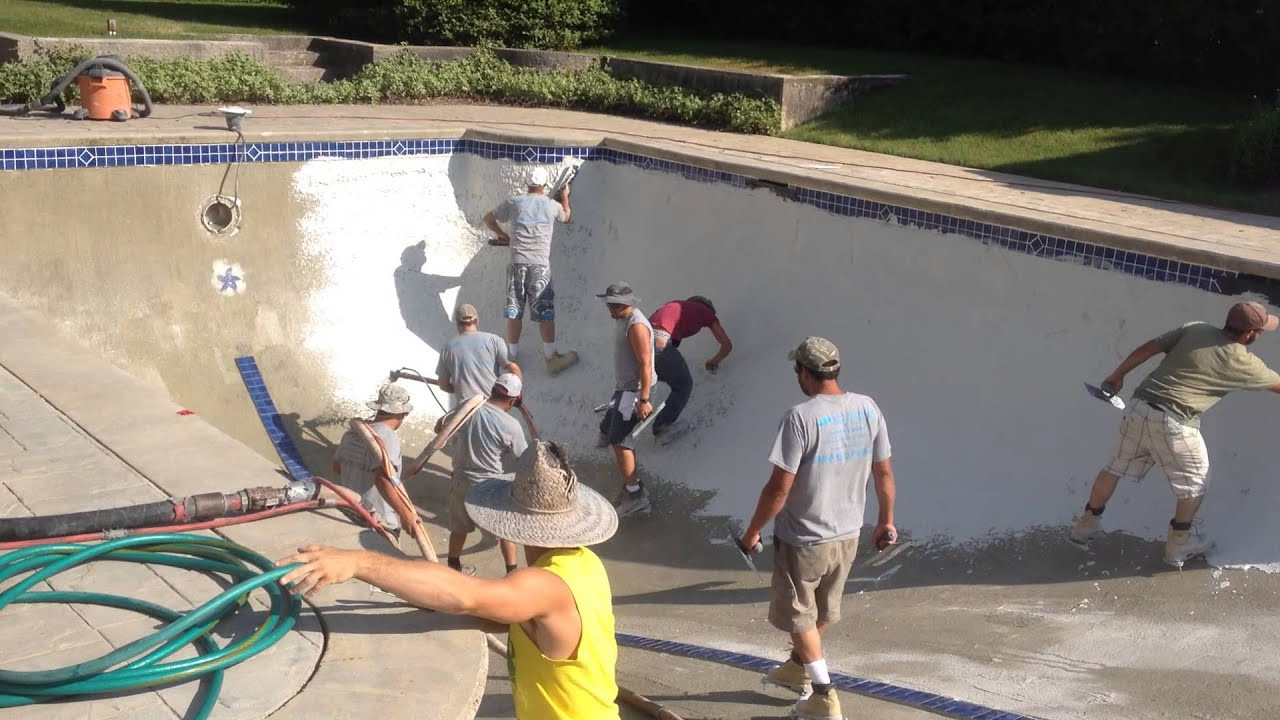 Best ideas about DIY Pool Plaster Repair . Save or Pin Pool Plaster Installation on a Gunite Pool in Cape Cod By Now.