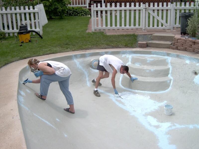 Best ideas about DIY Pool Plaster Repair . Save or Pin DIY Swimming Pool Resurfacing Gallery Now.